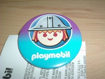 Badge Playmobil Chevalier neuf