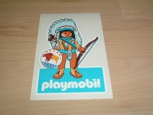 Autocollant Indien playmobil neuf