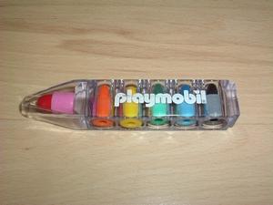 Crayon 6 couleurs playmobil neuf
