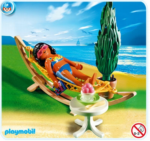 Playmobil Femme avec hamac 4861