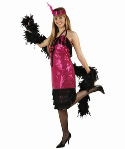 Deguisement costume Danseuse Charleston rose  XL