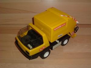 Camion poubelle jaune