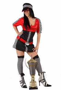 Deguisement costume Pilote automobile femme  XS-S