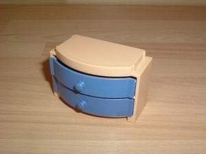 Commode tiroirs bleus