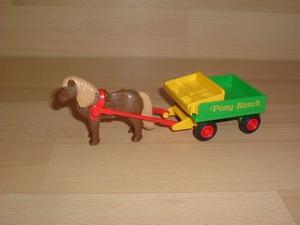 Charrette verte pony ranch
