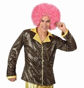 Deguisement costume Disco Chemise or