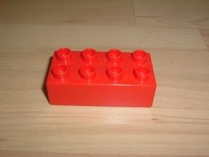 Brique 8 picots rouge