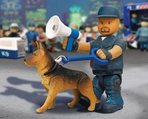 mighty world set chien policier neuf