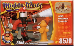 mighty world  Jake le pompier neuf