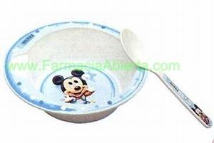 Assiette creuse micro onde Disney bleu