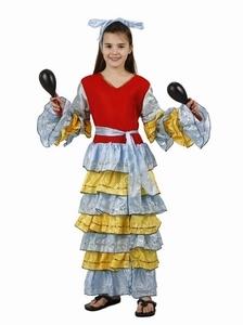 Deguisement costume Danseuse Rumba Brésilienne 5-6 ans