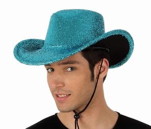 Chapeau disco bleu