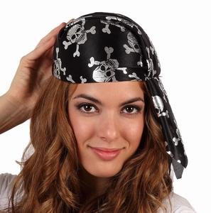 Chapeau pirate noir argent