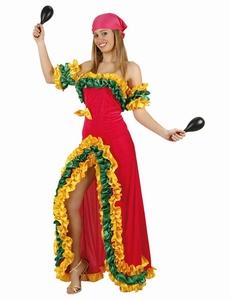 Deguisement costume Brésilienne Rumba rose