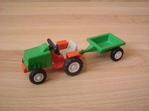 Tracteur vert et rouge enfant