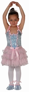 Deguisement costume Danseuse ballerine rose et bleu 7-9 ans