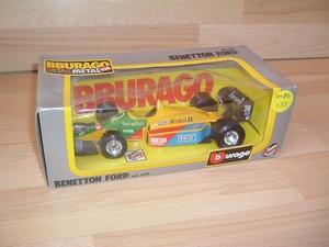 Voiture Burago formule 1 Benetton 1/24