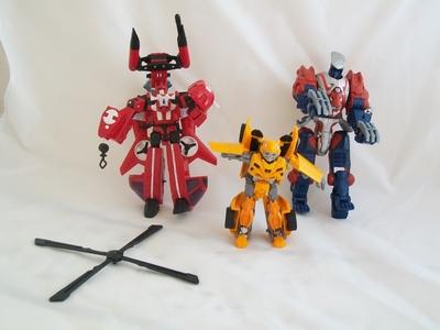 Lot personnages Transformers en l'état
