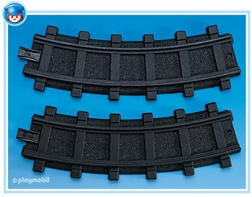 Playmobil 2 rails courbes 4387