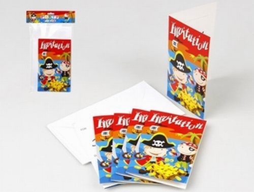 Cartes d'invitation Pirate x 6