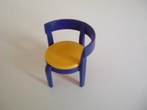 Chaise moderne bleue