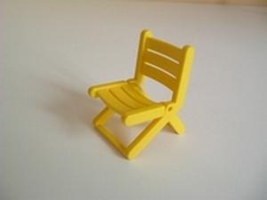 Chaise pliante jaune