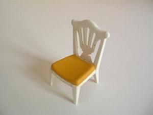 Chaise de banquet assise jaune