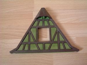 toit de maison à colombages vert