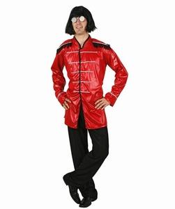 Deguisement costume Chanteur rock musicien rouge