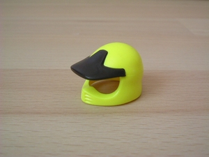 Casque de moto cross jaune
