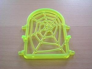 Fenêtre toile d'araignée jaune
