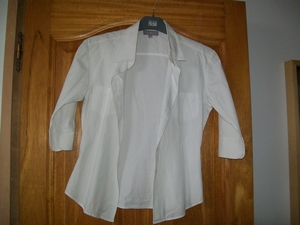 chemisier blanc taille 34