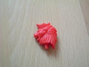 coiffe lion pour casque chevalier