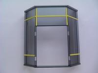 Grand panneau gris pour porte