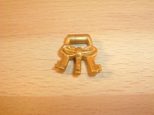 Clés dorées neuves