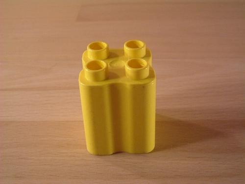 Brique haute 4 picots jaune