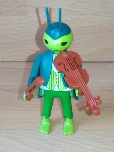 Jiminy Cricket et violon
