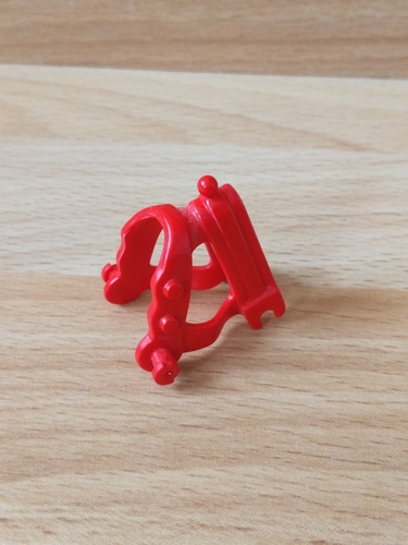 Collier rouge pour cheval
