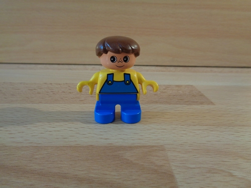 Enfant salopette bleue