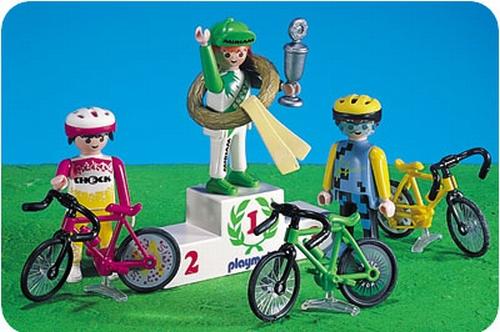Playmobil Coureurs cyclistes podium 3849