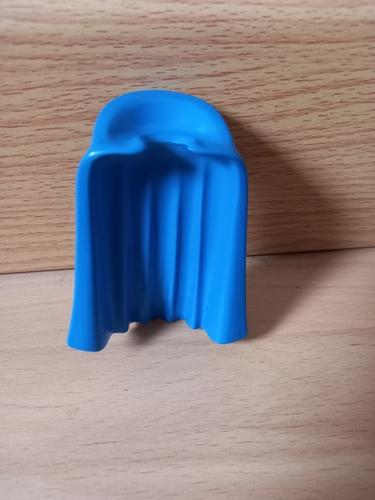 Cape bleu avec col