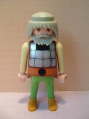 Viking argenté beige et vert