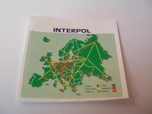 Autocollant plan Interpol Europe Neuf