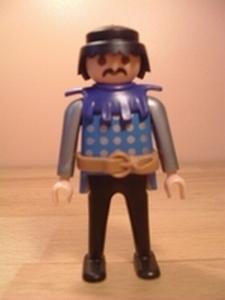 Chevalier argent et bleu