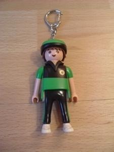 Porte clés policier cycliste Allemand