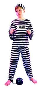 Deguisement costume Bagnard Prisonnier 4-6 ans