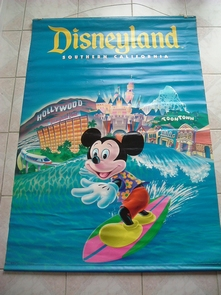 Poster Disney en toile plastifiée