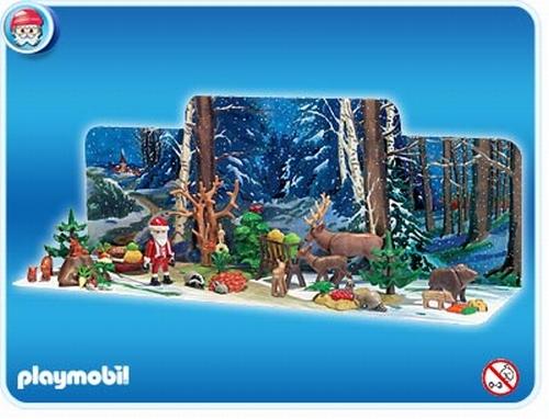 Playmobil Calendrier de l'avent Noel en forêt 4155