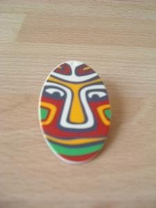 Bouclier indigène orange Neuf