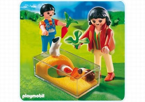 Playmobil Enfants avec terrarium et cochons d'Inde 4348